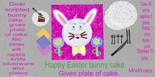 Happy easter bunny cake