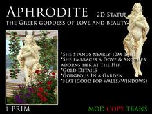 Aphrodite Statue 2D Plane Goddess of love, lust, beauty