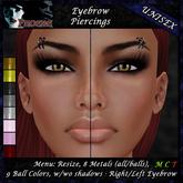 *P* Unisex Eyebrow Piercing A1 ~8 Metals/9 Colors~