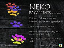 PAW PRINTS TRAIL - NEKO Kitty Paw Prints by * Altruistic * - BOX OF 10 COLOURS