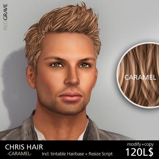 Hairstyle CHRIS - Caramel - REDGRAVE