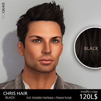 Hairstyle CHRIS - Black - REDGRAVE