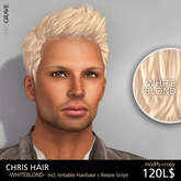 Hairstyle CHRIS - WhiteBlond - REDGRAVE
