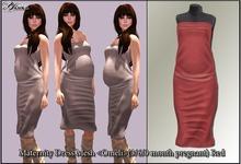 Maternity Dress Mesh <Omeli>(3/6/9 month pregnant) Red