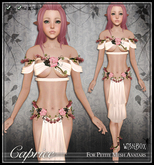 [Wishbox] Caprice (Petites) - Pink/Ivory. Fairy Rose Flower Silks for Petites
