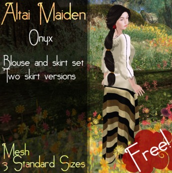 Ikshu: Altai Maiden Outfit - Onyx FREE