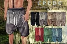 CREDO - Waxed_Drop_Crotch_Shorts-PACK{WEAR!}