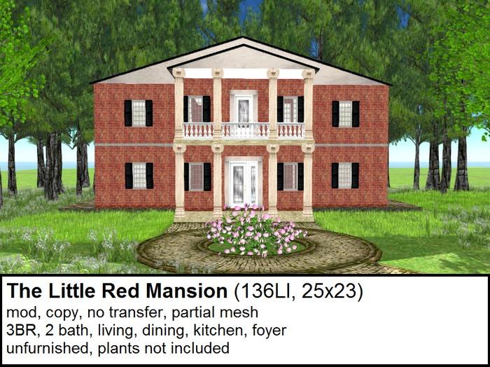 The Little Red Mansion(136LI, 25x23)