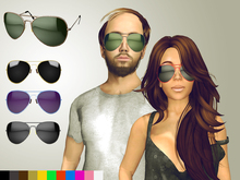 Aviator Glasses [mesh] - Fully Customisable (touch menu)