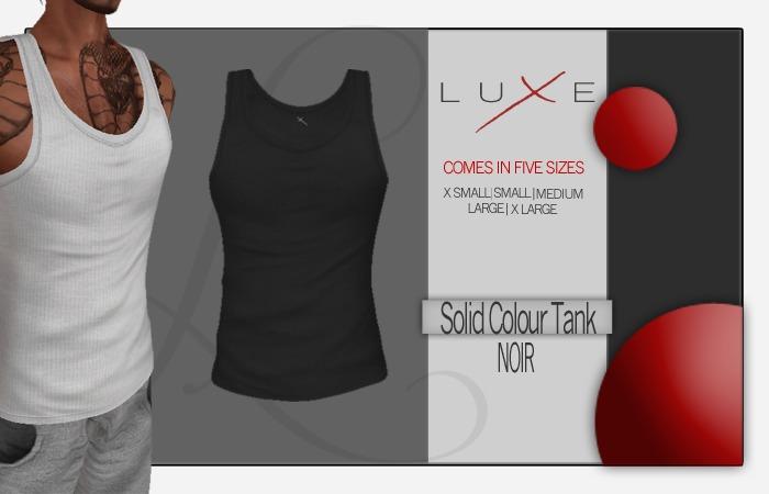 -LUXE- Wife Beater - Noir