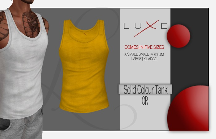 -LUXE- Wife Beater - Or