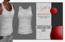 -LUXE- Wife Beater - Blanc