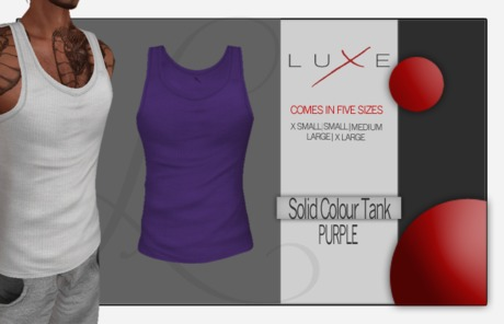 -LUXE- Wife Beater - Purp