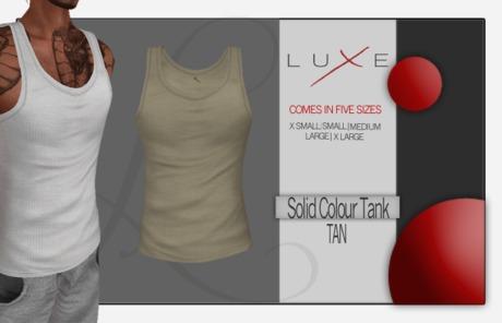 -LUXE- Wife Beater - Tan