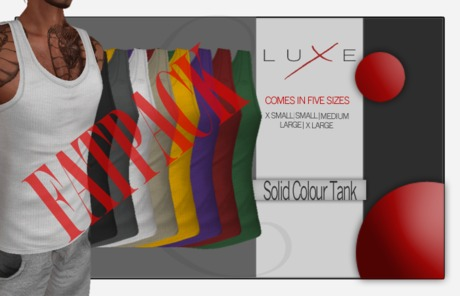 -LUXE- Wife Beater - Solid Colour FATPACK