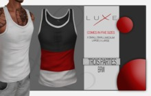- LUXE Wife Beater - Trois Parties - BRW