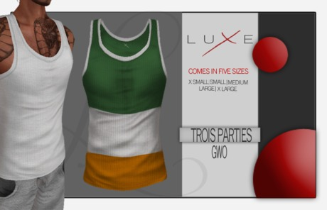 - LUXE Wife Beater - Trois Parties - GWO