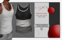 - LUXE Wife Beater - Trois Parties - 925