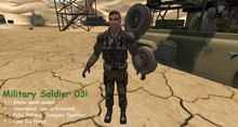 Military Soldier 03 - arms down - 100% Mesh!  Only Six Prims!  FULL PERMS!  Includes Texture!