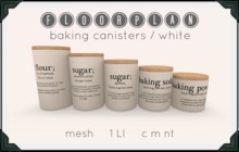 floorplan. baking canisters / white [ boxed ]