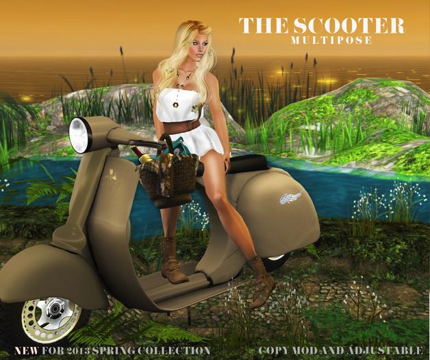 [LA] LOSTANGEL Scooter Beige - Solo Poses