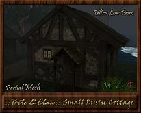 ::B&C:: Small Medieval Rustic Cottage - Ultra Low Prim - Bonus Canopy