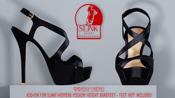 [MESH] Belgravia - Paradise Sandals - Nero