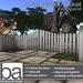 [ba] white garden picket fence kit - packaged