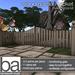 [ba] wood garden picket fence kit - packaged