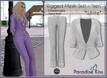 {Paradise Kiss} Iren Suit-White (Rigged Mesh)