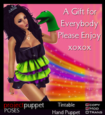 Project Puppet Poses - Sock Puppet Gift