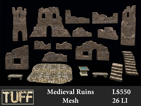 [TUFF] Medieval Ruins - Mesh