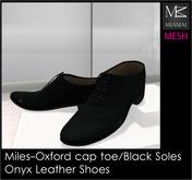 Miamai_Miles-Oxford Cap Toe_Onyx black soles