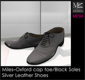 Miamai_Miles-Oxford Cap Toe_Silver black soles