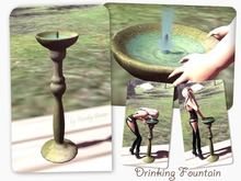 Animated Drinking Fountain, 2 prims, Mesh