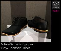 Miamai_Miles-Oxford Cap Toe_Onyx brown soles