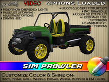 "Riders Sim Prowler - Heavy-Duty XUV (Xtreme Utility Vehicles)  - w/ Texture & Color Change - Pre-Textured ""Gator Colors"""