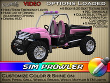 "Riders Sim Prowler - Heavy-Duty XUV (Xtreme Utility Vehicles)  - w/ Texture & Color Change - Pre-Textured ""Pink"""