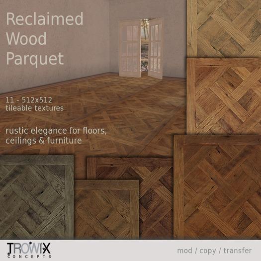 Trowix - Reclaimed Wood Parquet Textures