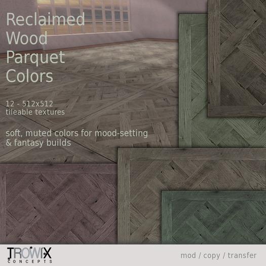 Trowix - Reclaimed Wood Parquet - Colors Textures