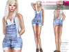 %50SUMMERSALE FULL PERM CLASSIC RIGGED MESH Women's Denim Sexy Shorts Dungaree with Pockets - 4 TEXTURES