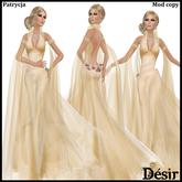 DESIR Orchid dress Gold