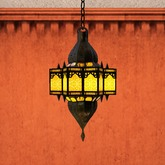 Moroccan Lawna Kssar Lamp, golden