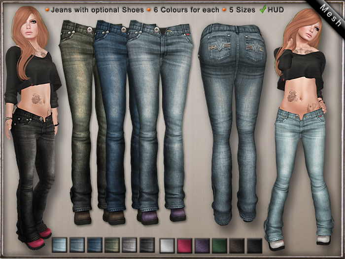 DN Mesh: Lazy Jeans & Shoes w HUD