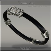 Tight Rope Men's Leather Bracelet by Chop Zuey Couture Jewellery