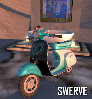 Swerve Scooter - Cattywompus moped motorcycle