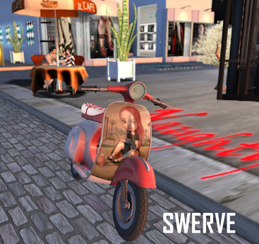 Swerve Scooter - Red Head moped motorcycle*