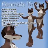 Chocolate Furry Wolf Avatar