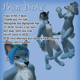 Blue Furry Wolf Avatar