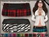 DN Mesh: Pleat Skirt - Plaid w HUD